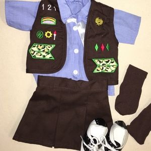 "Girls 18"" Doll Girl Scout Brownies Outfit"
